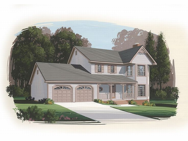 Two-Story House Plan, 007H-0021