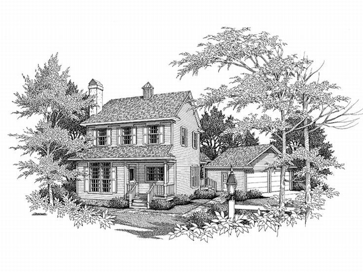 Narrow Lot House Plan, 030H-0028