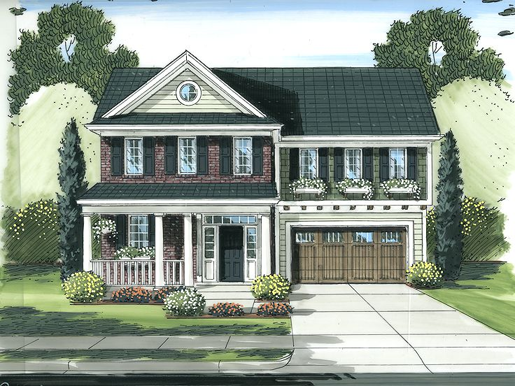 Narrow Lot Home Design, 046H-0094