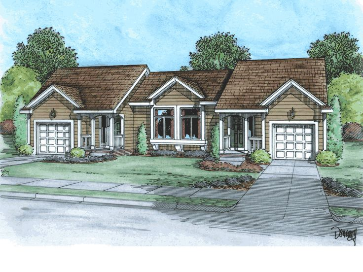 Multi-Family Home Plan, 031M-0018