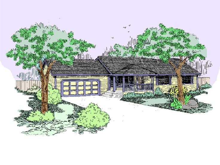 Ranch Home Design, 013H-0067