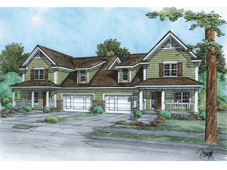 Plan 031m 0042 find unique house plans home plans and for Multi family house plans with courtyard