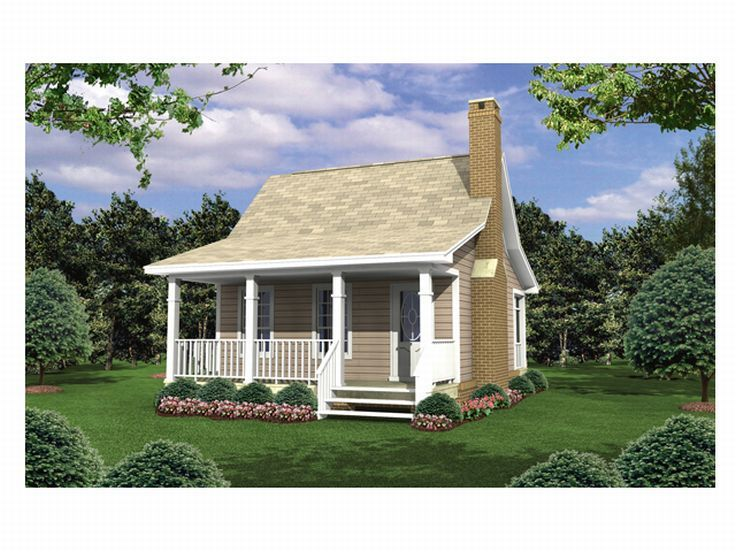 Cabin House Plan, 001H-0001