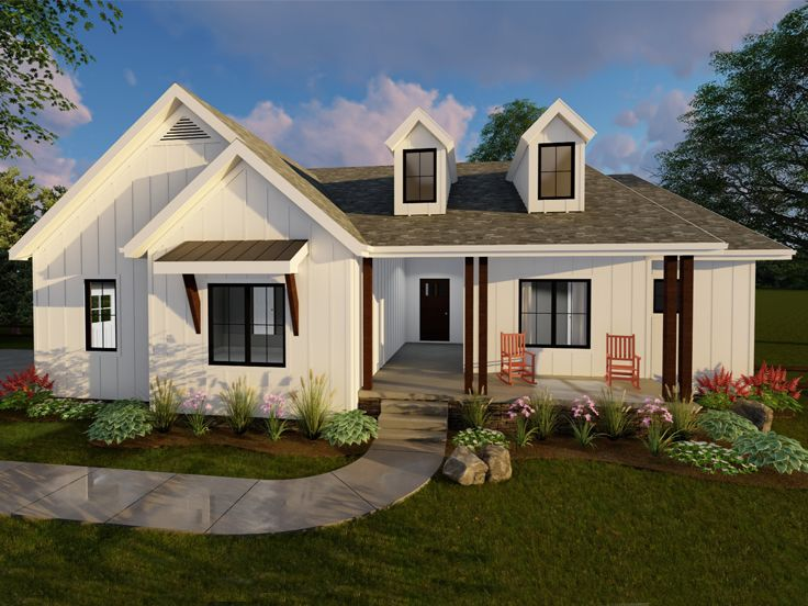 European House Plan, 050H-0098