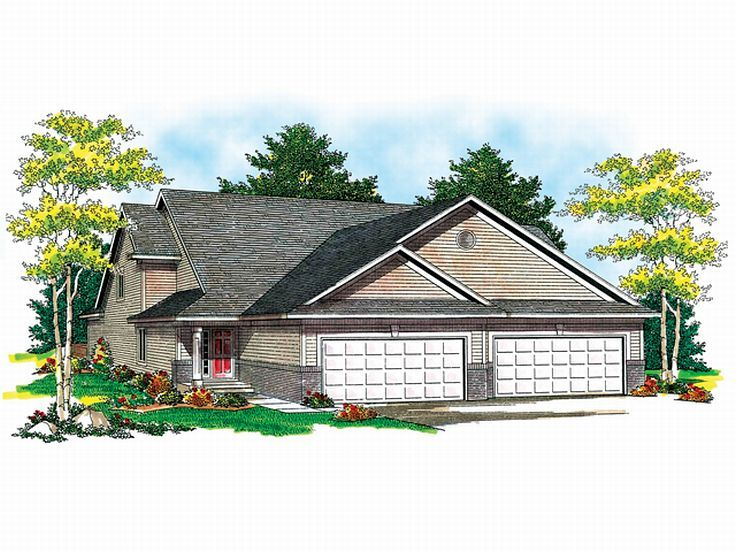 Duplex House Plan, 020M-0039