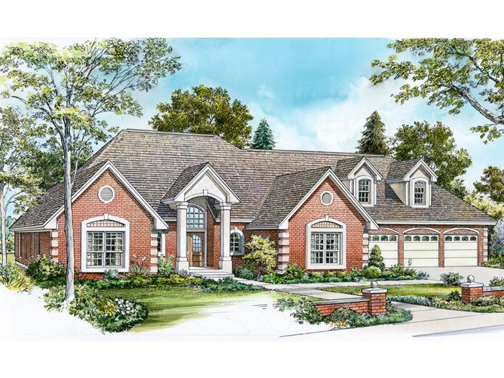 Traditional Home Plan, 008H-0048