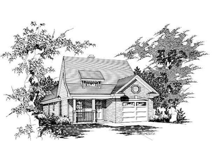 Narrow Lot House Plan, 061H-0003