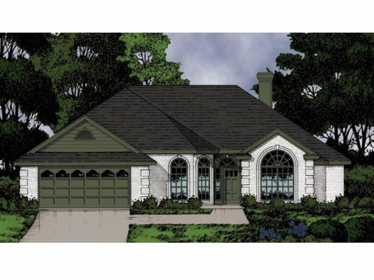 One-Story House Plan, 015H-0068