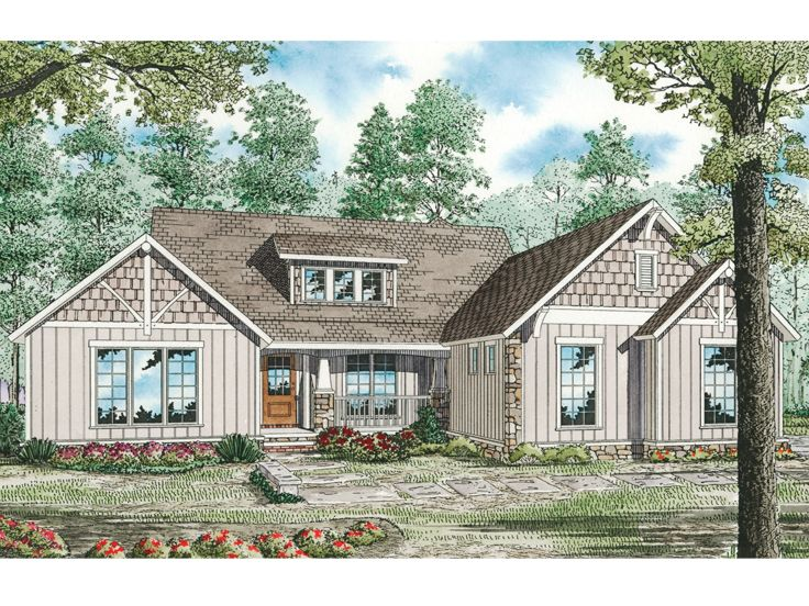 Craftsman House Plan, 025H-0158