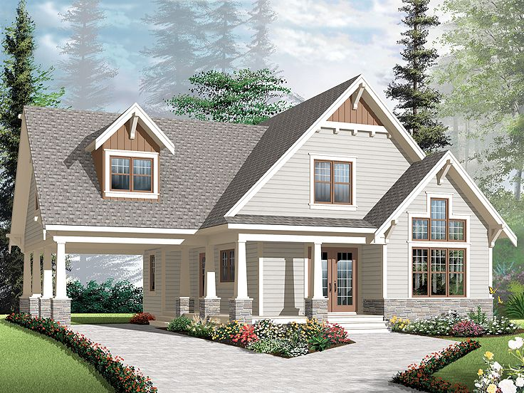 Bungalow Home Plan, 027H 0270