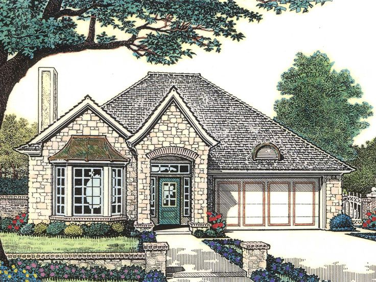 Narrow Lot Home Plan, 002H-0083