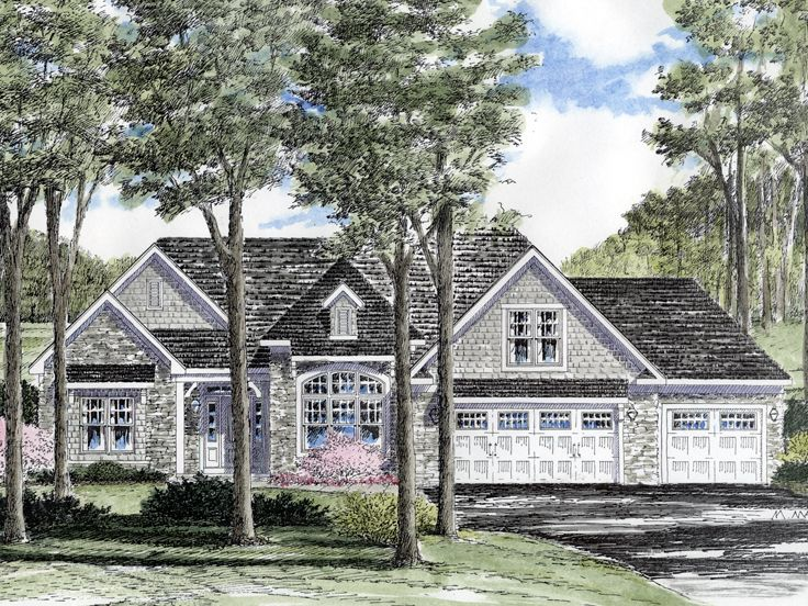 European House Plan, 014H-0073
