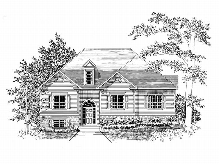 Split-Level House Plan, 019H-0027