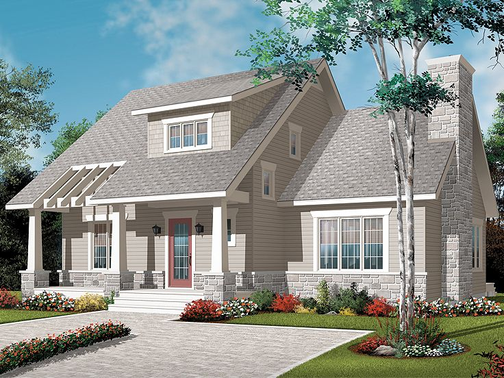 Craftsman House Plan, 027H-0272