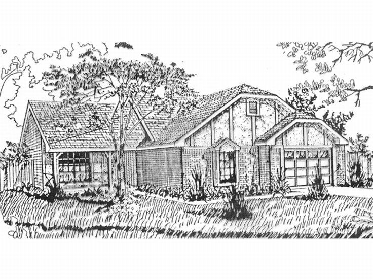 Tudor House Plan, 009H-0002