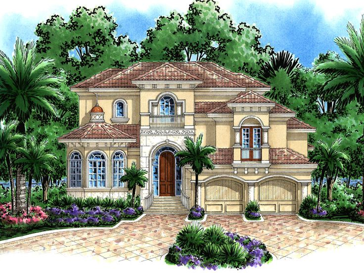 Plan 037h 0121 find unique house plans home plans and for Mediterranean house plans
