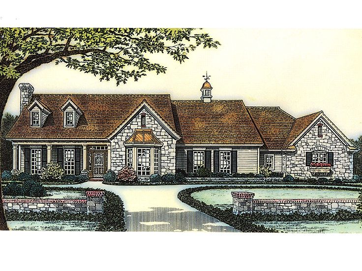 Country Home Plan, 002H-0018