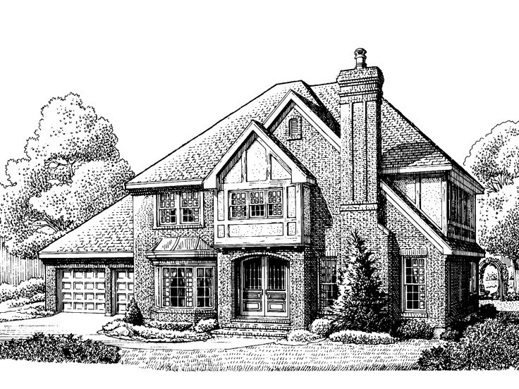 2-Story House Plan, 054H-0057