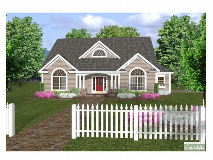 Ranch House Plan, 007H-0034