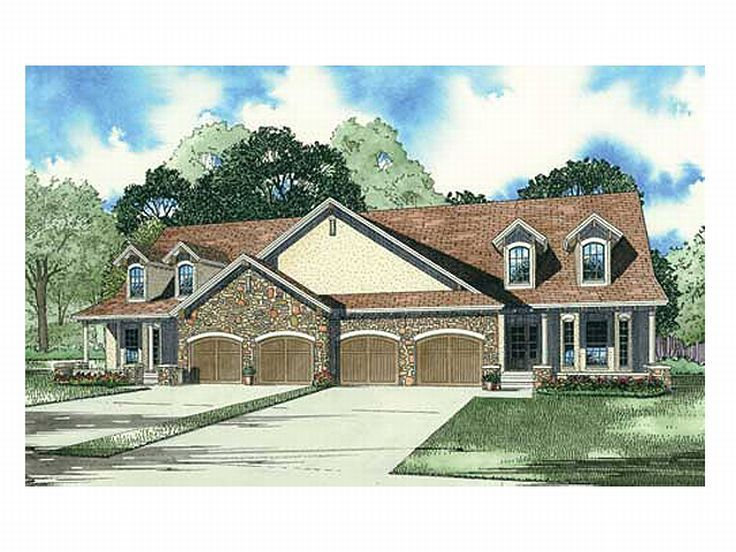 Multi-Family Home Design, 025M-0069