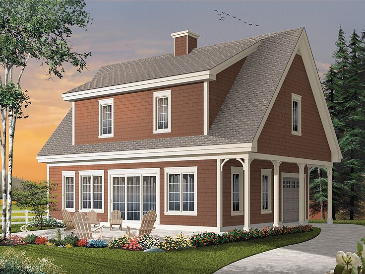 Carriage House Plans   Garage Apartment Plan or Vacation Home    Carriage House Plan  G