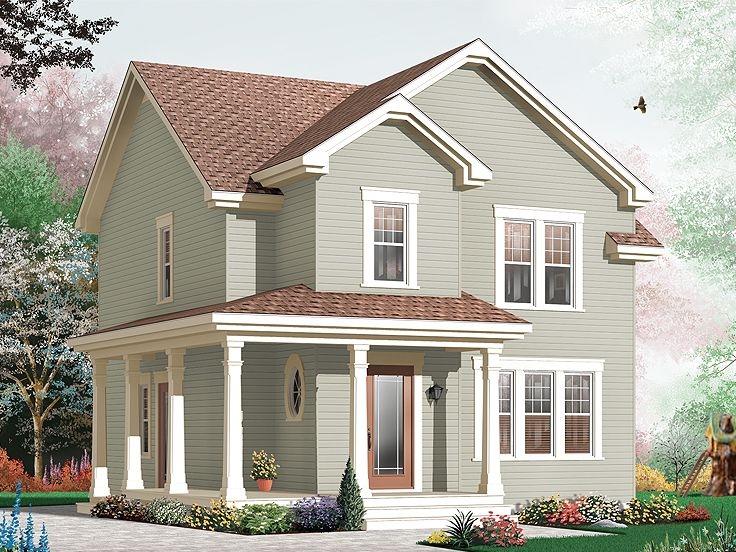 Narrow Lot House Plan, 027H-0308
