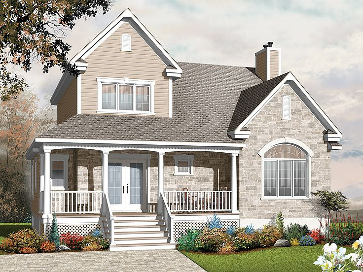 Two-Story Country House, 027H-0216