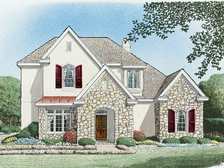European House Plan, 054H-0138