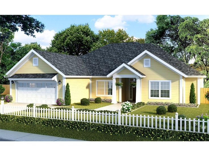 Ranch House Plan, 059H-0165