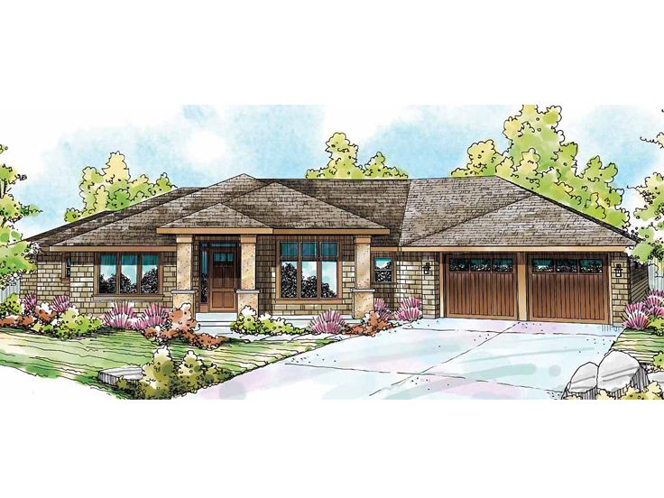 New modern and countrycottage house plans eye on design by for Modern ranch house design