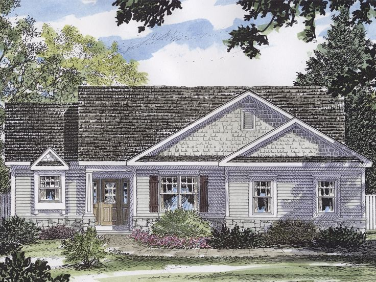 Small Ranch House Plan, 014H-0066