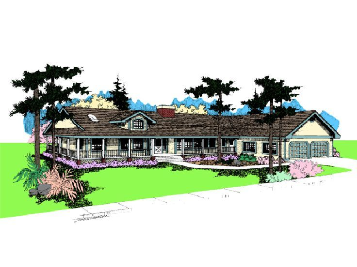 Country Ranch Home Plan, 013H-0009