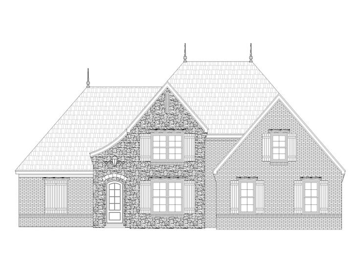 European House Plan, 062H-0010
