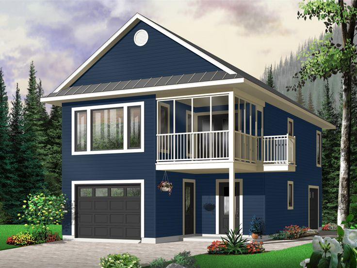 Garage apartment plans carriage house plan with tandem for Tandem garage house plans