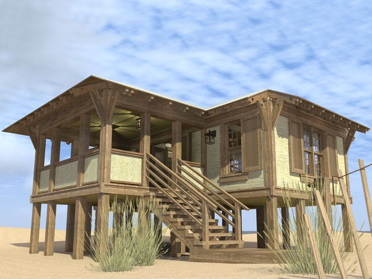 Plan 052h 0088 find unique house plans home plans and for Beach cabin designs