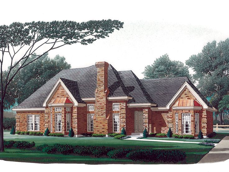 Ranch House Plan, 054H-0123