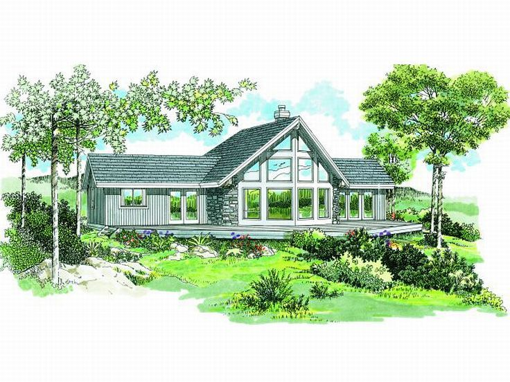 waterfront home design 032h 0059 - Waterfront House Plans