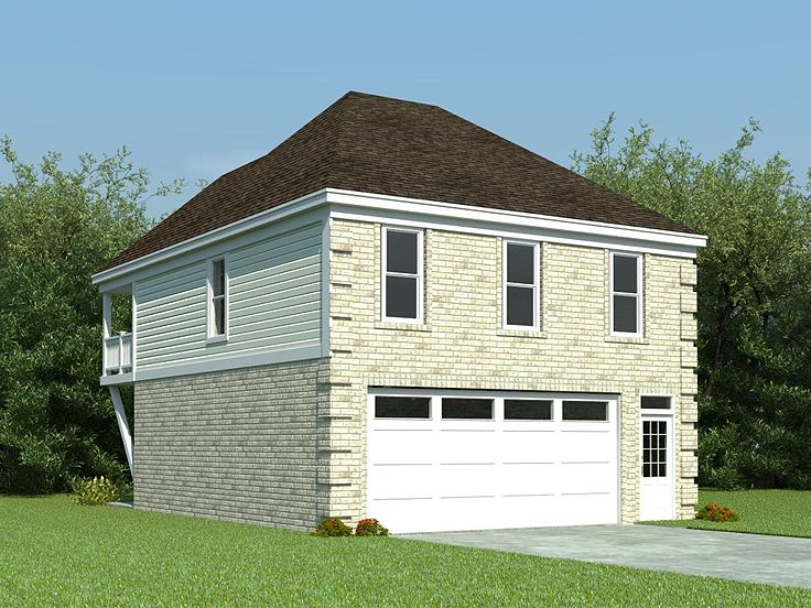 Garage apartment plans carriage house plan with 2 car for Garage plans with apartment one level