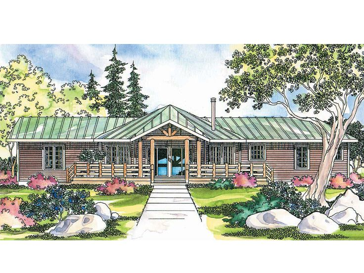Rustic House Plan, 051H-0196