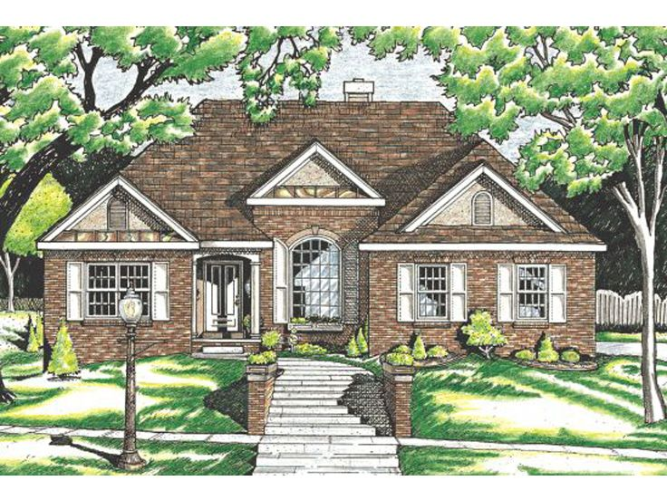 Ranch Home Plan, 031H-0108