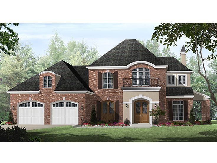 European House Plan, 001H-0199