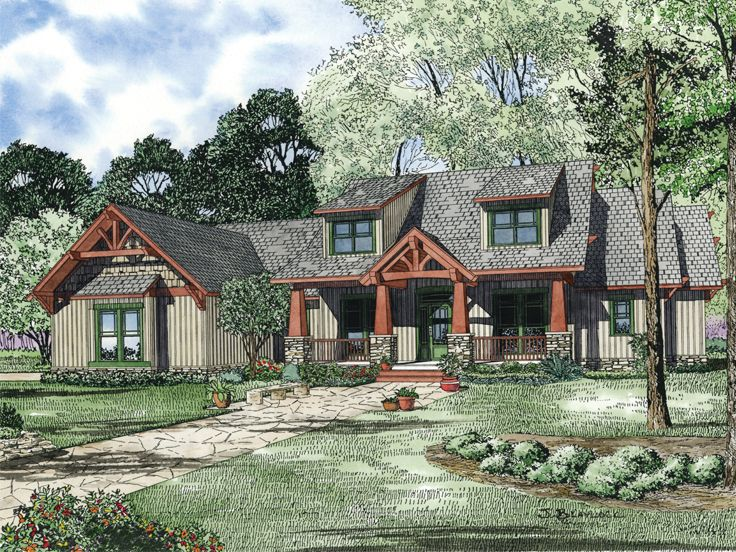 mountain house plan 025h 0187 - Unique House Plans
