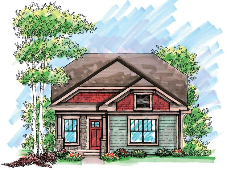 Narrow Lot Craftsman Style Home Plans