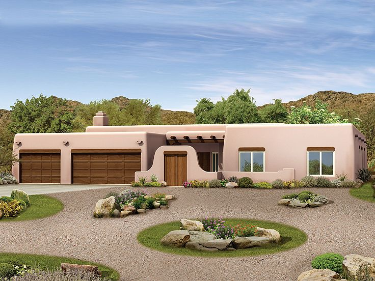 Adobe House Plan, 057H-0026