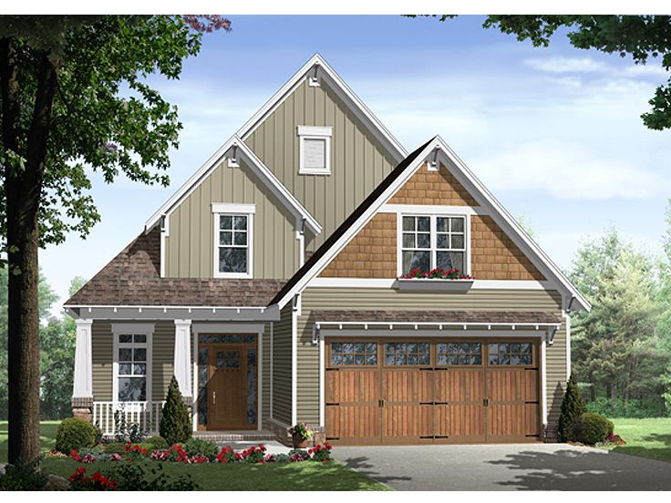 Narrow Lot Home Plan, 001H-0137