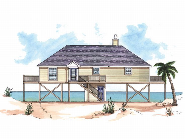 Beach House Plan, 017H-0003