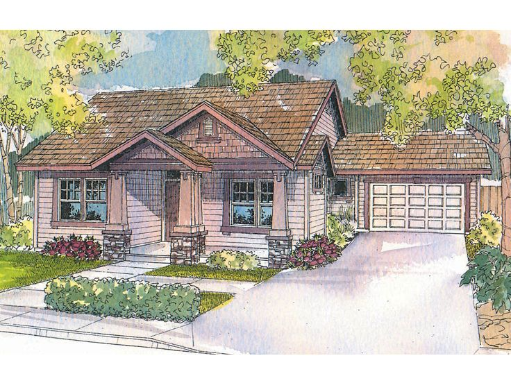 Craftsman Home Plan, 051H-0099