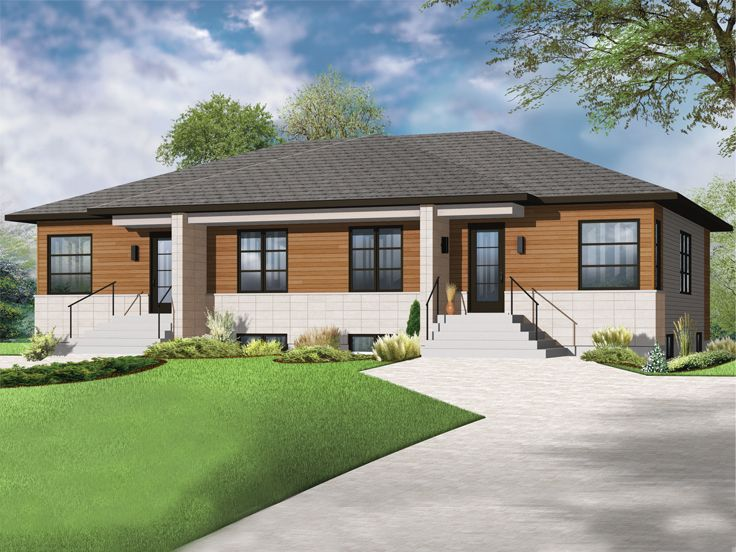 Plan 027m 0058 find unique house plans home plans and for Modern fourplex designs
