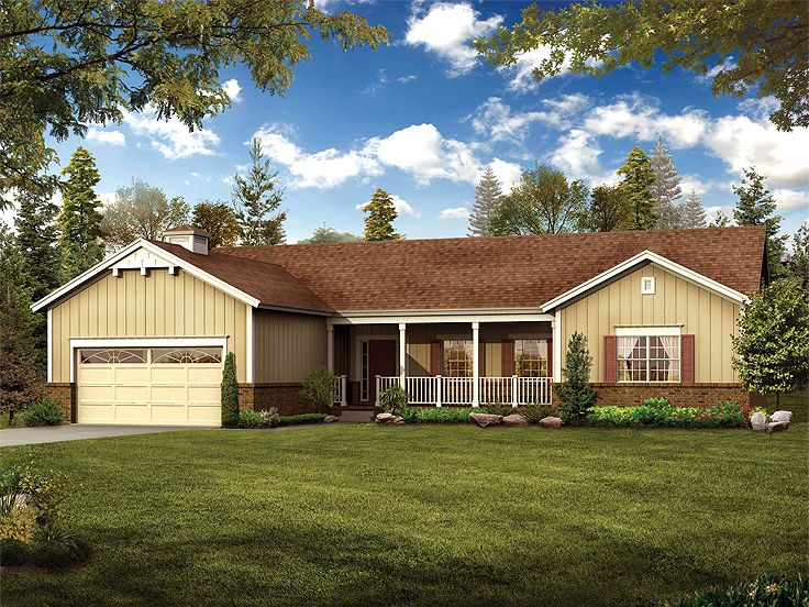 Ranch House Plan, 057H-0028