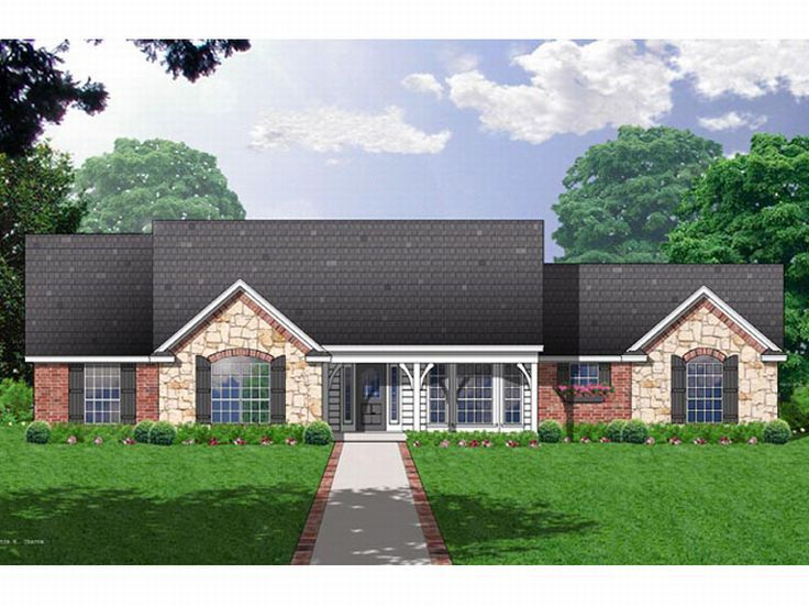 Ranch Home Plan, 015H-0052